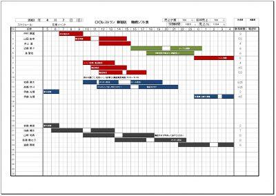 24時間営業対応シフト表 印刷画面