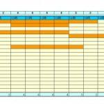 シンプルできれいなガントチャートのシフト表テンプレート