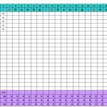 勤務パターンで入力するシフト表