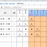 ガントチャートも勤務パターン一覧も両方出力できる便利なシフト表テンプレート