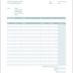 すっきりとした水色のデザインの英語版EXCEL領収書テンプレート